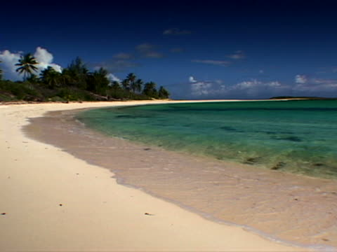 eleuthera: sandy curve of north palmetto point - artbeats stock videos & royalty-free footage