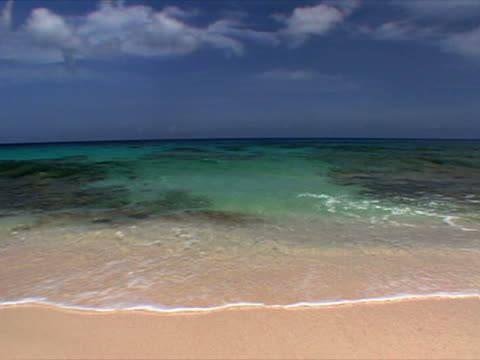 eleuthera: shallow waves at hidden beach - artbeats stock videos & royalty-free footage