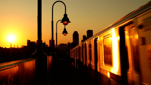 elevated city subway - elevated train stock videos and b-roll footage