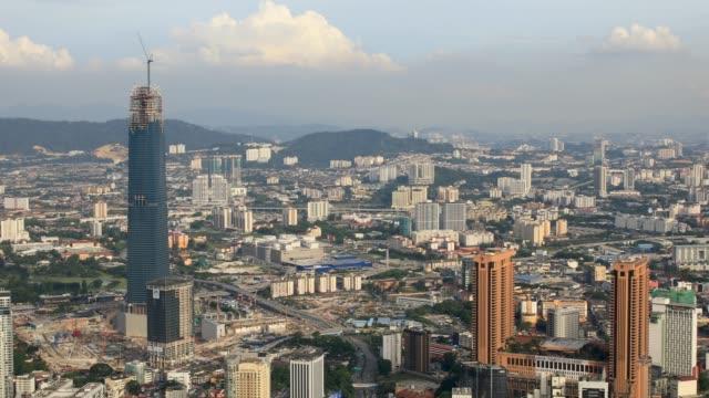Erhöhten Panorama Blick auf Kuala Lumpur Zersiedelung und Stadtbild