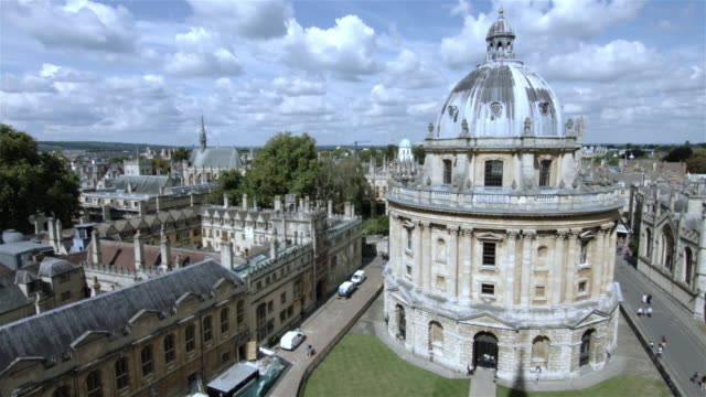 elevated shot of central oxford university - oxford university stock videos & royalty-free footage