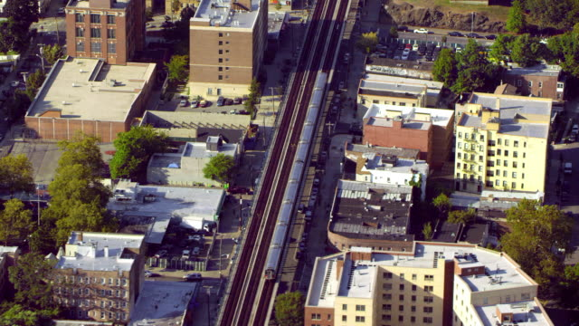 elevated subway in bronx - bronx new york stock videos and b-roll footage