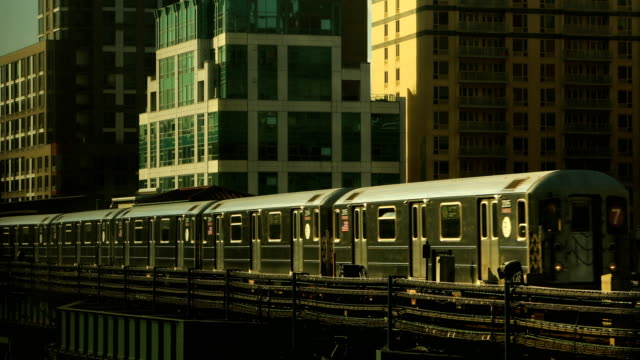 Elevated Subway Train in Long Island City