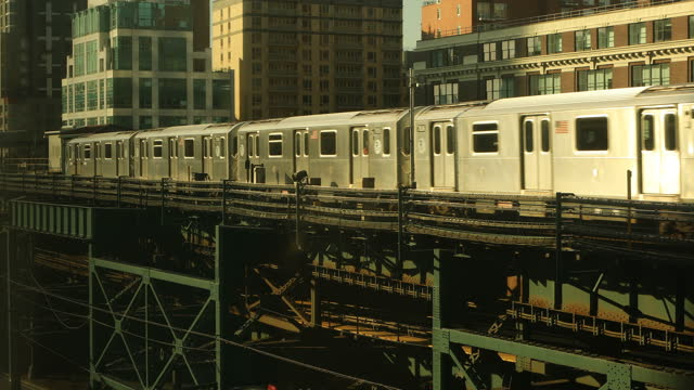 elevated subway train - moving past stock videos & royalty-free footage