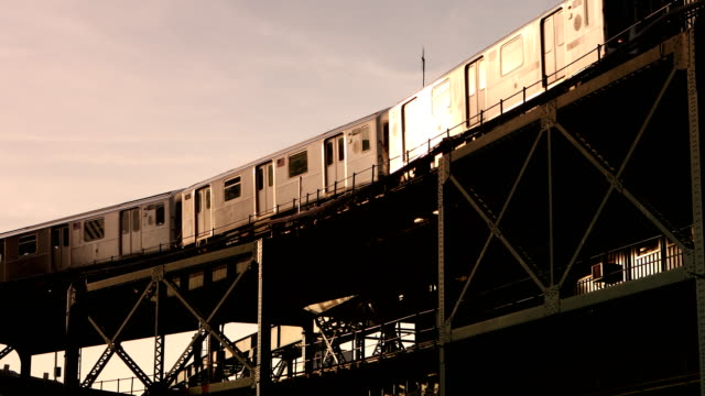 elevated subway train - queens new york city stock videos & royalty-free footage