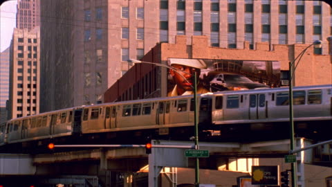 ms, la, elevated train, chicago, illinois, usa  - elevated train stock videos & royalty-free footage