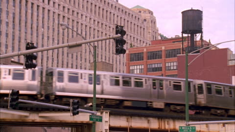 ma, la, elevated train, chicago, illinois, usa, ms  - elevated train stock videos & royalty-free footage
