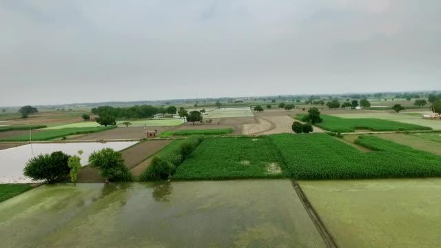 Verhoogde weergave van de landbouw