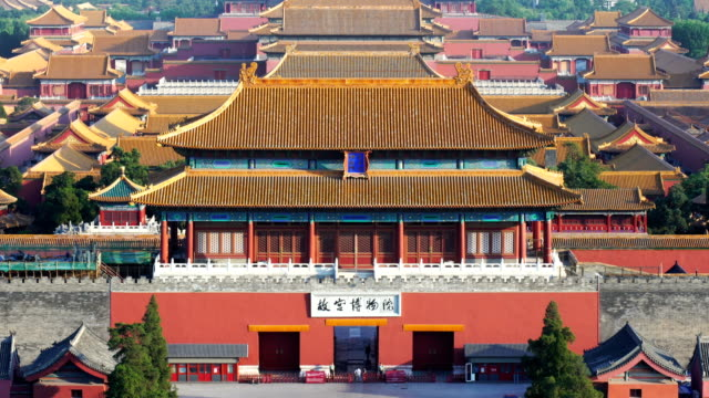 Elevated view of Forbidden City,Beijing,China.