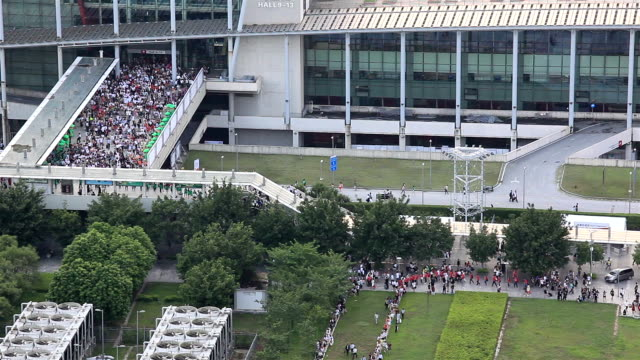 Elevated View of Guangzhou Convention and Exhibition Center Entrance