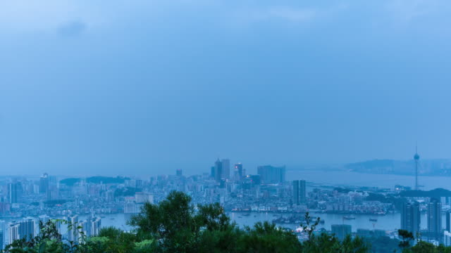 T/L WS Elevated View of Macau Panorama, China