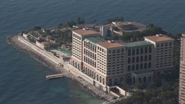 elevated view of monte-carlo bay hotel - monaco stock videos & royalty-free footage