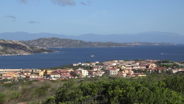 elevated view of palau village - sassari stock videos & royalty-free footage