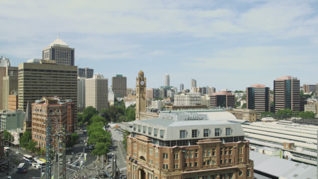 elevated view of railway square, sydney, new south wales, australia - lockdown stock videos & royalty-free footage