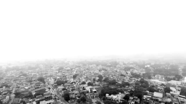 Elevated view of rural village