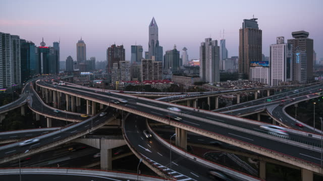 T/L WS ZI Elevated View of Shanghai Highway