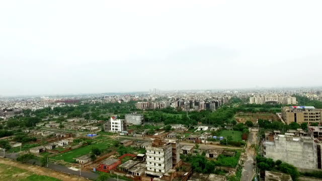 elevated view of the city - delhi stock videos & royalty-free footage