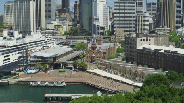 Elevated View of the Rocks, Sydney, New South Wales, Australia