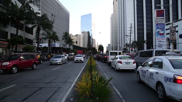 Elevated view of traffic in the Makati district of Manila the Philippines on Friday Nov 20 General views of rush hour traffic in the Makati district...