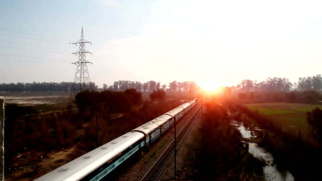 elevated view of train moving forward - moving past stock videos & royalty-free footage