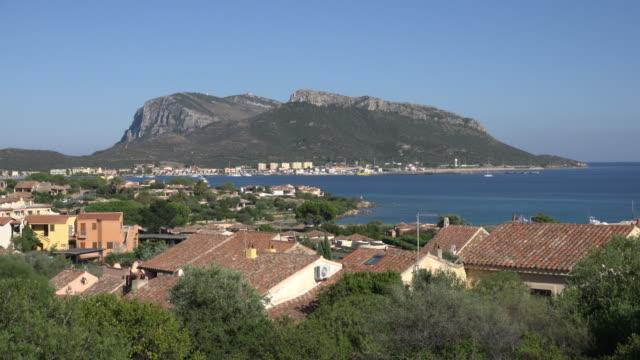 elevated view of village of golfo aranci - sassari stock videos & royalty-free footage