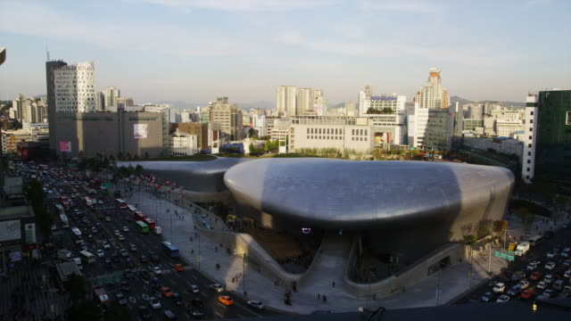 Elevated View of Zaha Hadid– designed Dongdaemun Design Plaza