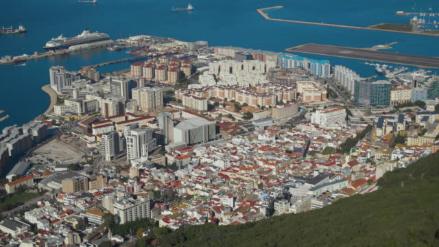 stockvideo's en b-roll-footage met elevated view over gibraltar, gibraltar, uk - gibraltar iberisch schiereiland