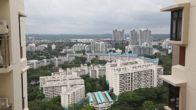Elevated views residential blocks stand in Queenstown estate in Singapore on Monday Jan 15 Elevated view residential and commercial buildings stand...