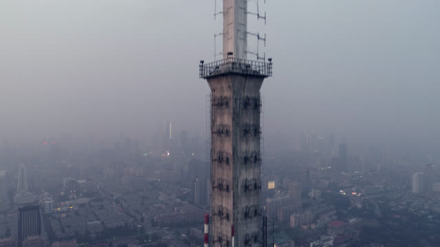 Elevation view of telecommunication tower