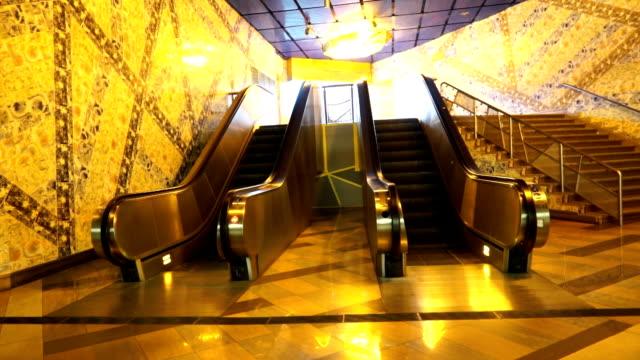 vídeos y material grabado en eventos de stock de ascensor en metro - portugal
