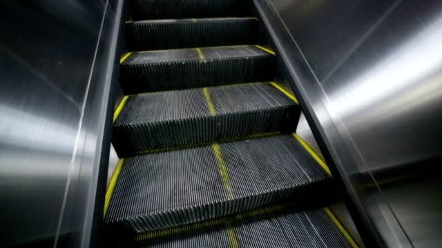 elevator in the beijing subway - ステンレス点の映像素材/bロール