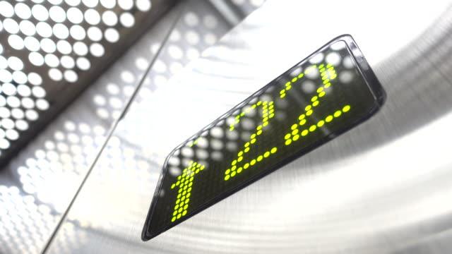 elevator indicator - digital viewfinder stock videos & royalty-free footage
