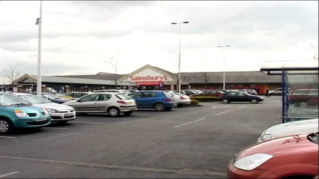 elevenyearold girl raped leamington spa ext car park and sainsbury supermarket - leamington spa stock videos & royalty-free footage