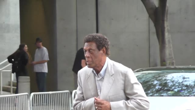 Elgin Baylor arriving to see Kobe Bryant's final game at Staples Center in Los Angeles Celebrity Sightings on April 13 2016 in Los Angeles California