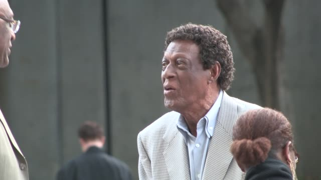 elgin baylor & elaine baylor at the clippers vs spurs playoffs at staples center in los angeles in celebrity sightings in los angeles, - playoffs stock videos & royalty-free footage