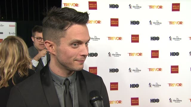 interview eli lieb on performing tonight and what it means to him on how he got involved in the trevor project at trevorlive los angeles 2015 at... - the trevor project stock videos and b-roll footage