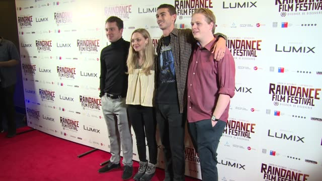 Eli Powers Amanda Seyfried Aidan Sheldon Thaddeus Bouska at Vue Piccadilly on October 06 2018 in London England