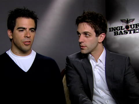 eli roth and bj novak on his character - b.j. novak stock videos and b-roll footage