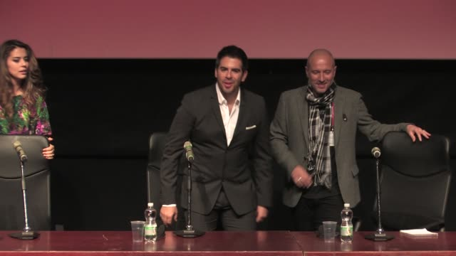 BROLL Eli Roth and Lorenza Izzo at The Green Inferno' Press Conference on November 12 2013 in Rome Italy