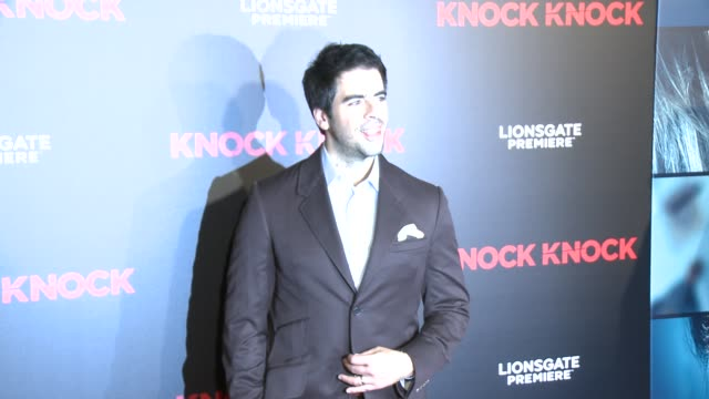 Eli Roth at the Knock Knock Los Angeles Premiere at TCL Chinese Theatre on October 07 2015 in Hollywood California