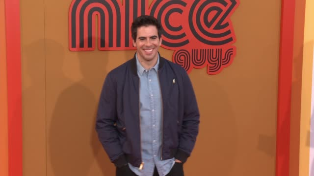 Eli Roth at The Nice Guys Los Angeles Premiere at TCL Chinese Theatre on May 10 2016 in Hollywood California