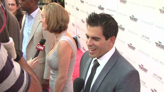 Eli Roth at the The Cinema Society Screening Of 'Inglourious Basterds' at New York NY