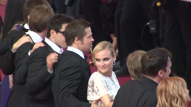 Eli Roth Daniel Bruhl Brad Pitt actress Diane Kruger and Christoph Waltz at the Cannes Film Festival 2009 Inglourious Basterds Steps at Cannes