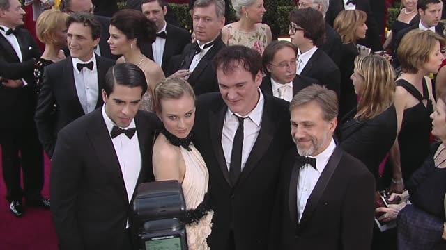 Eli Roth Diane Kruger Quentin Tarantino Christoph Waltz at the 82nd Annual Academy Awards Arrivals Part 2 at Los Angeles CA