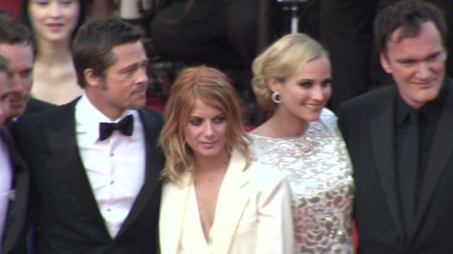 Eli Roth Michael Fassbender Brad Pitt Dian Kruger Quentin Tarantino Melanie Laurent Christophe Waltz Mike Myers at the Cannes Film Festival 2009...