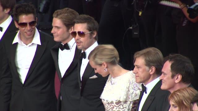 Eli Roth Michael Fassbender Brad Pitt Dian Kruger Quientin Tarantino Melanie Laurent Christophe Waltz Mike Myers at the Cannes Film Festival 2009...