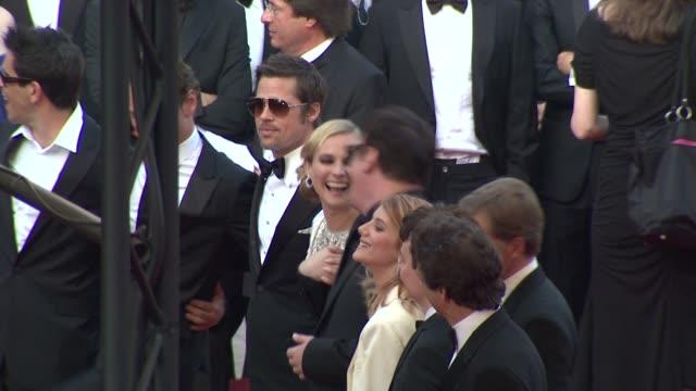 Eli Roth Michael Fassbender Brad Pitt Dian Kruger Quientin Tarantino Melanie Laurent Christophe Waltz at the Cannes Film Festival 2009 Inglourious...
