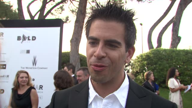 Eli Roth on Amfar being a different paced event than other events at Cannes at the Cannes Film Festival 2009 amfAR Red Carpet at Antibes