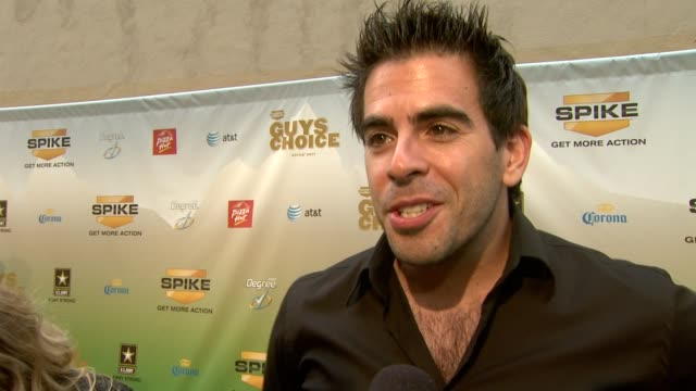 Eli Roth on attending tonight's event on what the award he's receiving means on why guys need their own award show at the Spike TV's 2009 'Guys...