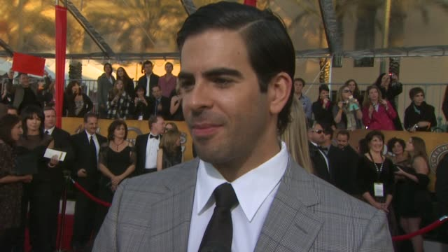 Eli Roth on being here on being cast and on Quentin Tarantino at the 16th Annual Screen Actors Guild Awards Arrivals at Los Angeles CA